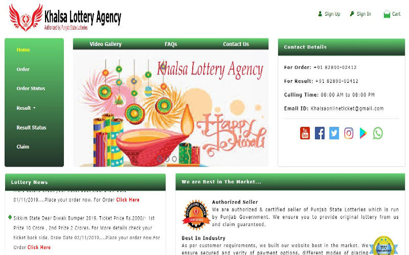 Khalsa Lottery Agency | Volcor Software