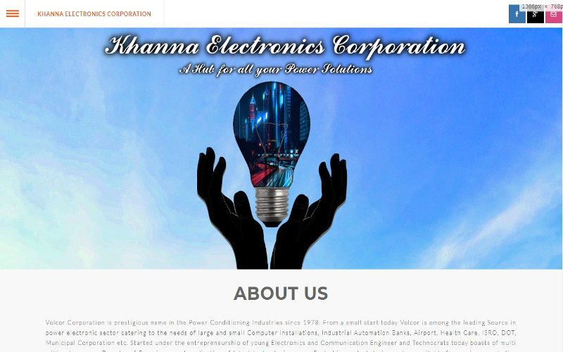 Khanna Electronics Corporation | Volcor Software